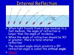 internal reflection