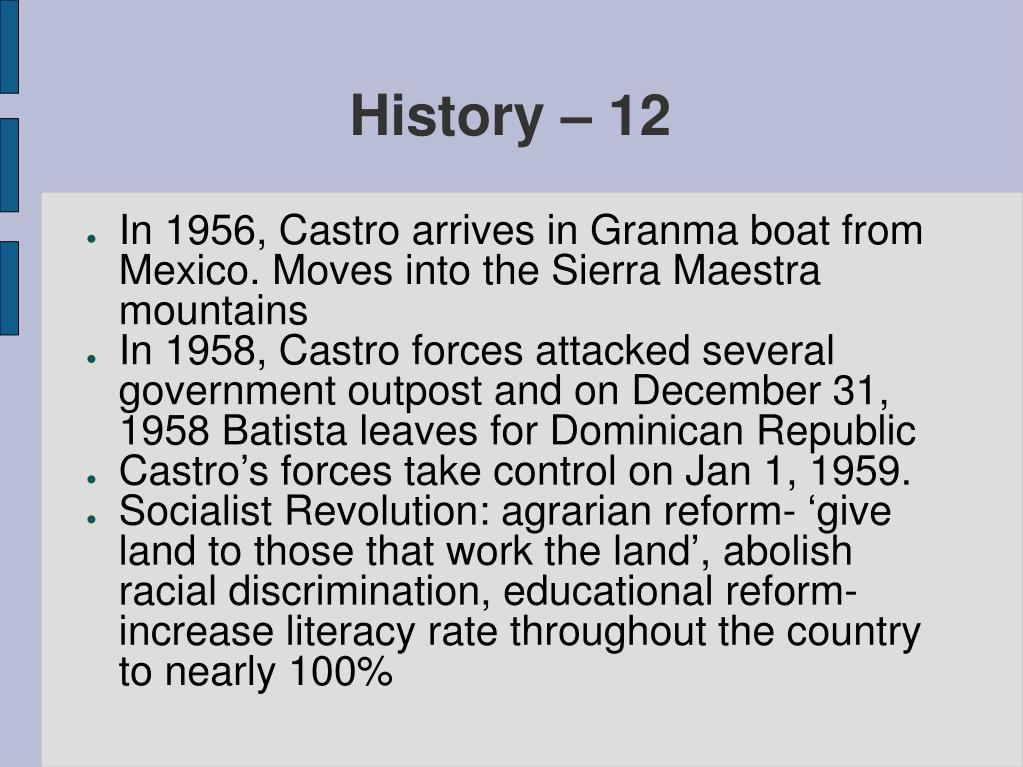 History – 12