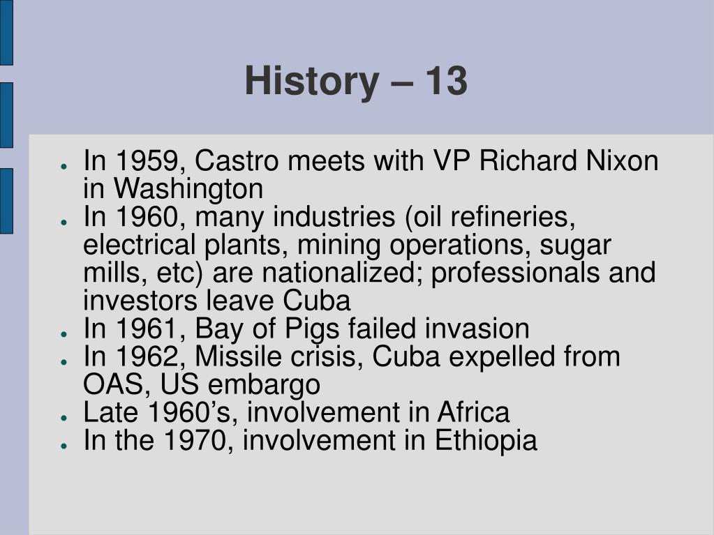 History – 13