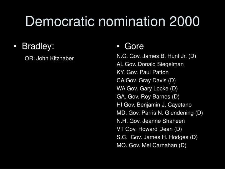 Democratic nomination 2000