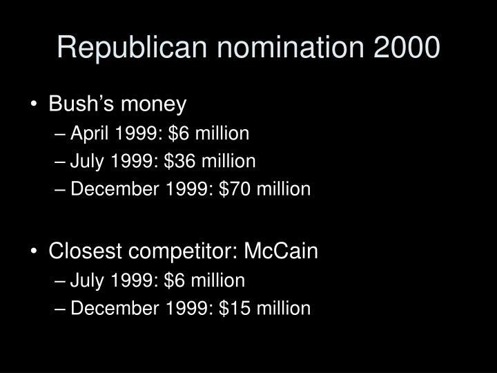 Republican nomination 2000