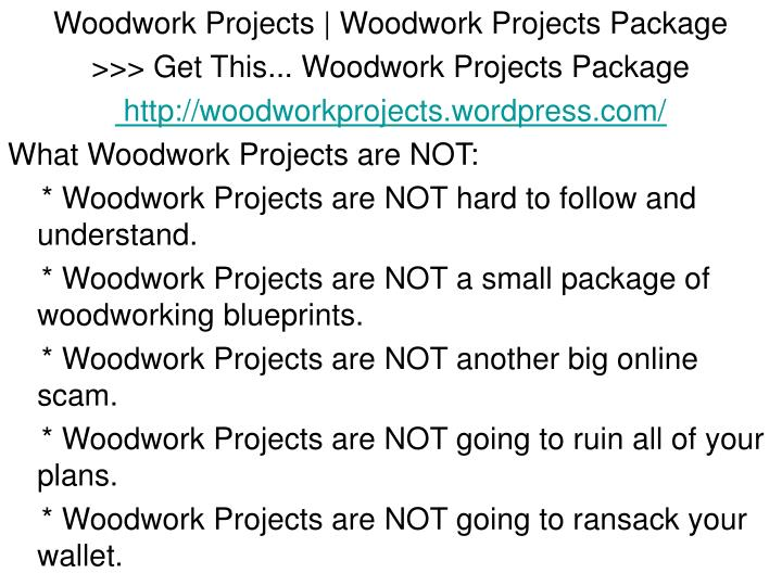 Woodwork Projects | Woodwork Projects Package