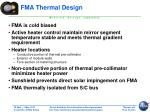 fma thermal design