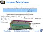 instrument radiator sizing1