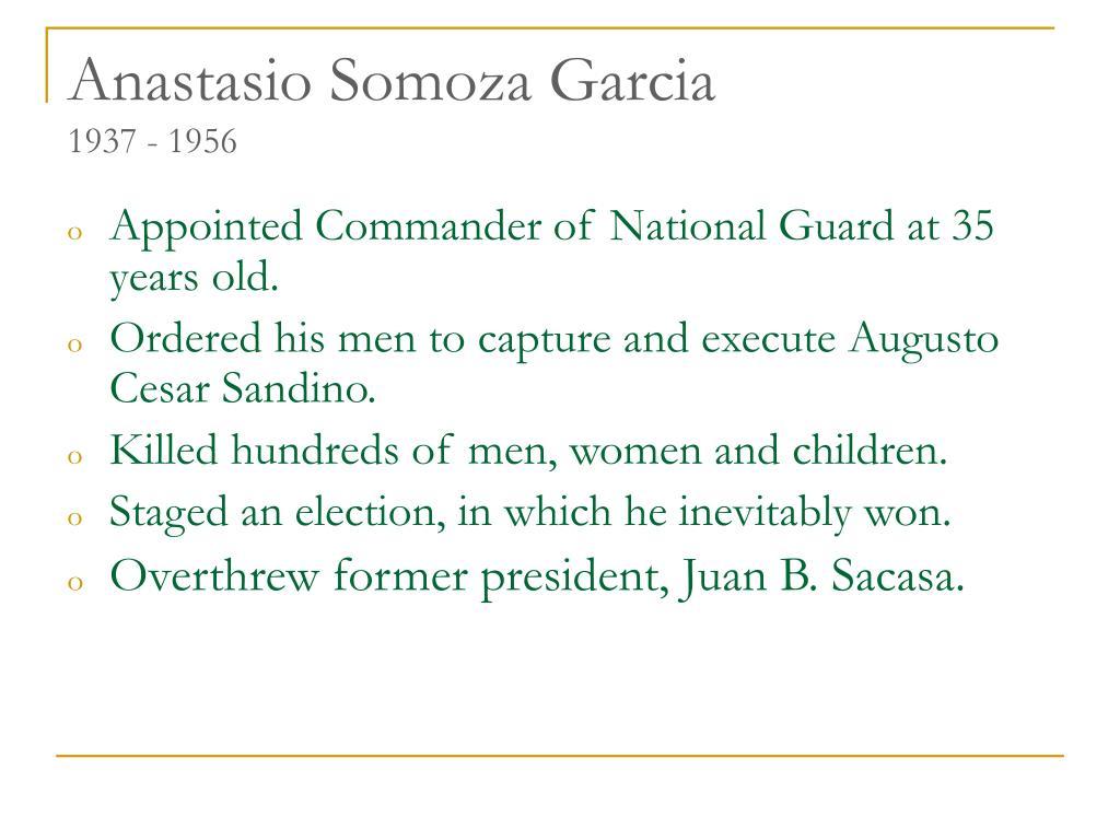 Anastasio Somoza Garcia
