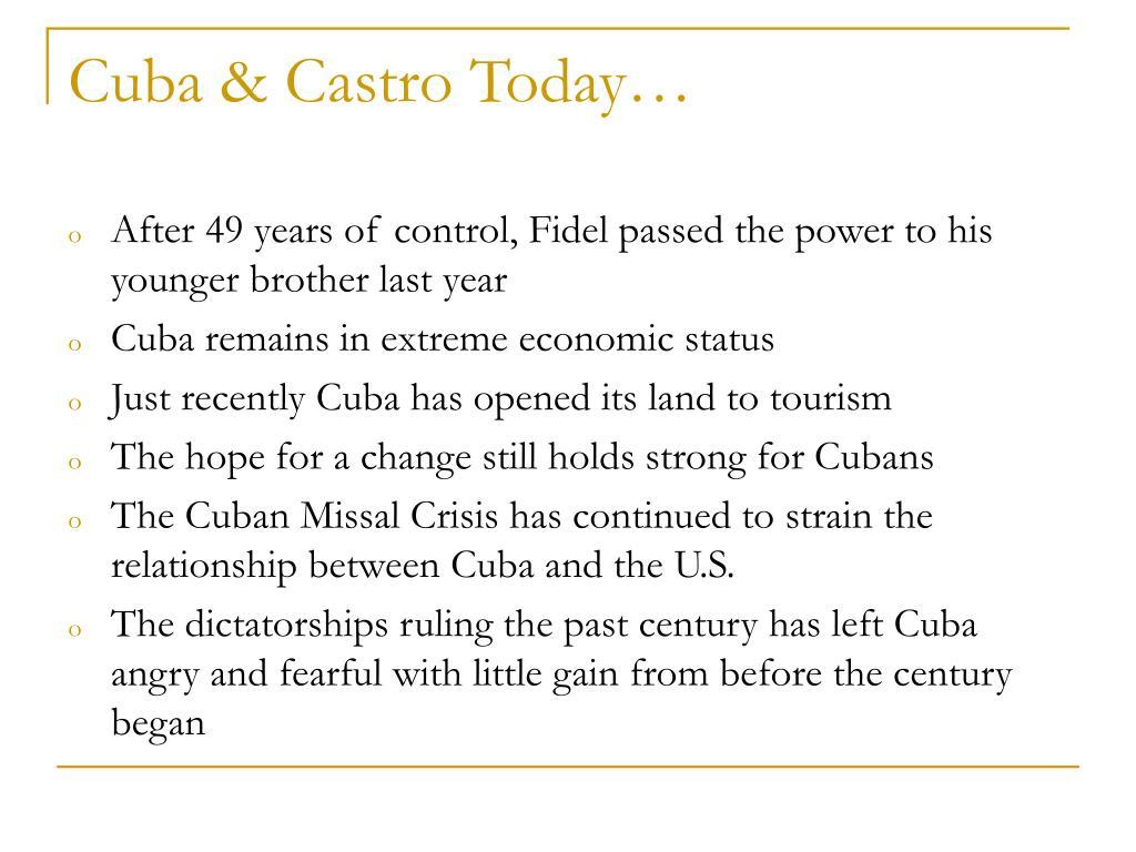 Cuba & Castro Today…