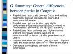 g summary general differences between parties in congress