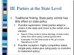 iii parties at the state level