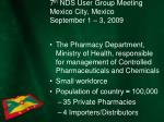 7 th nds user group meeting mexico city mexico september 1 3 20092