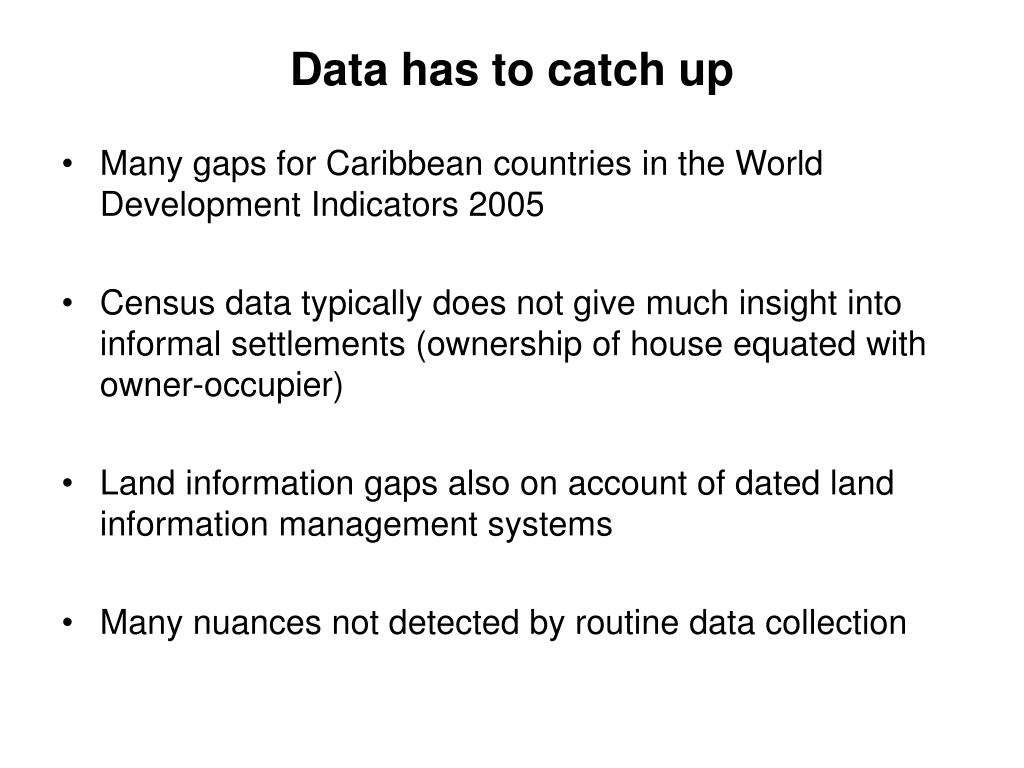 Data has to catch up