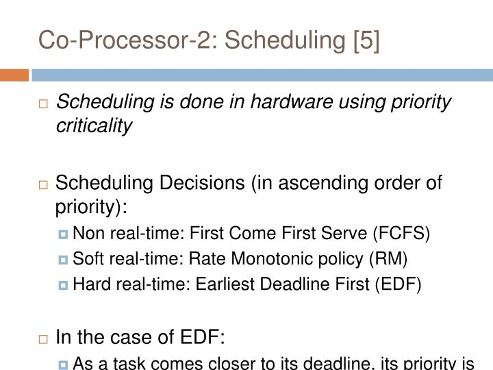 Co-Processor-2: Scheduling [5]