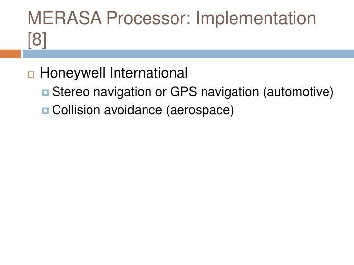 MERASA Processor: Implementation [8]