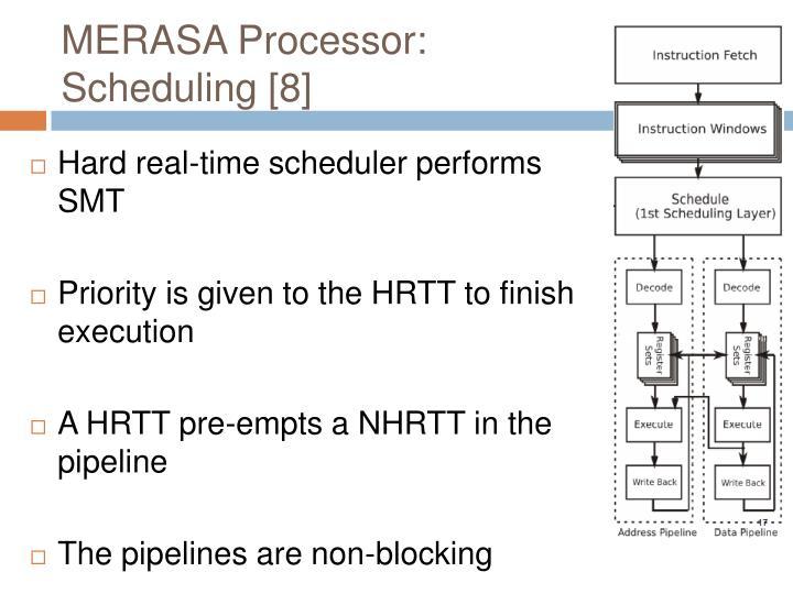 MERASA Processor: Scheduling