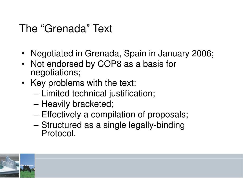 "The ""Grenada"" Text"