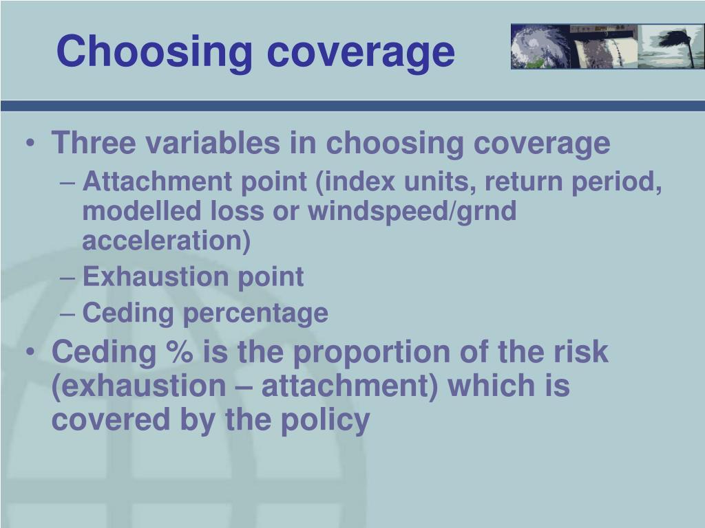 Choosing coverage