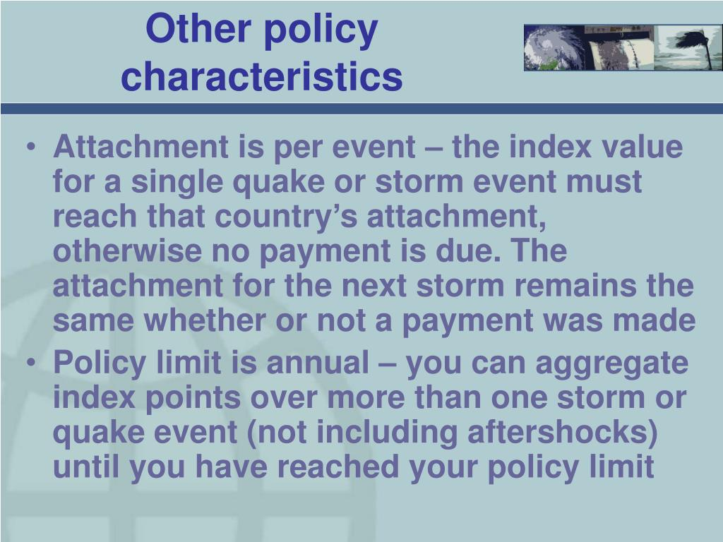 Other policy characteristics