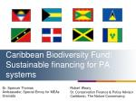 caribbean biodiversity fund sustainable financing for pa systems