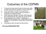 outcomes of the cdpmn