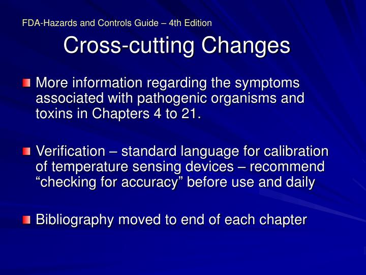 Cross cutting changes3