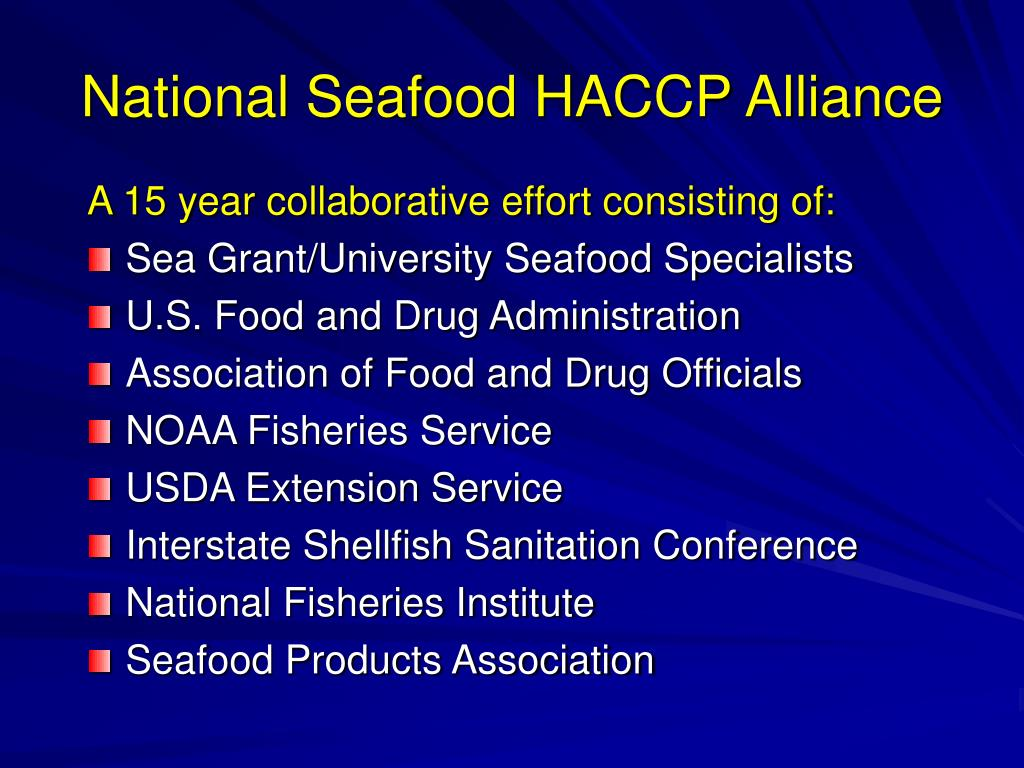 National Seafood HACCP Alliance