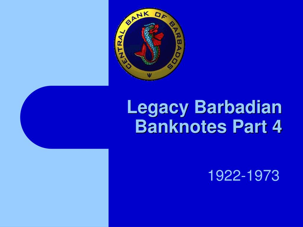legacy barbadian banknotes part 4 l.