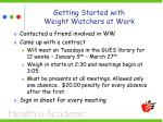 getting started with weight watchers at work