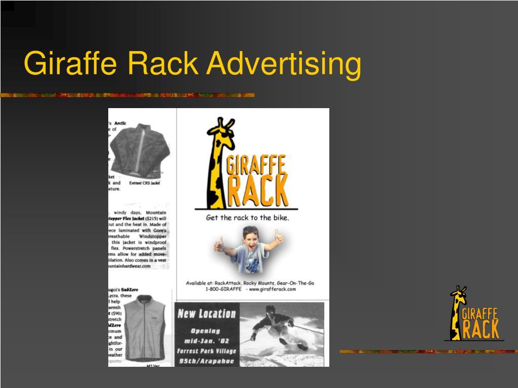 Giraffe Rack Advertising
