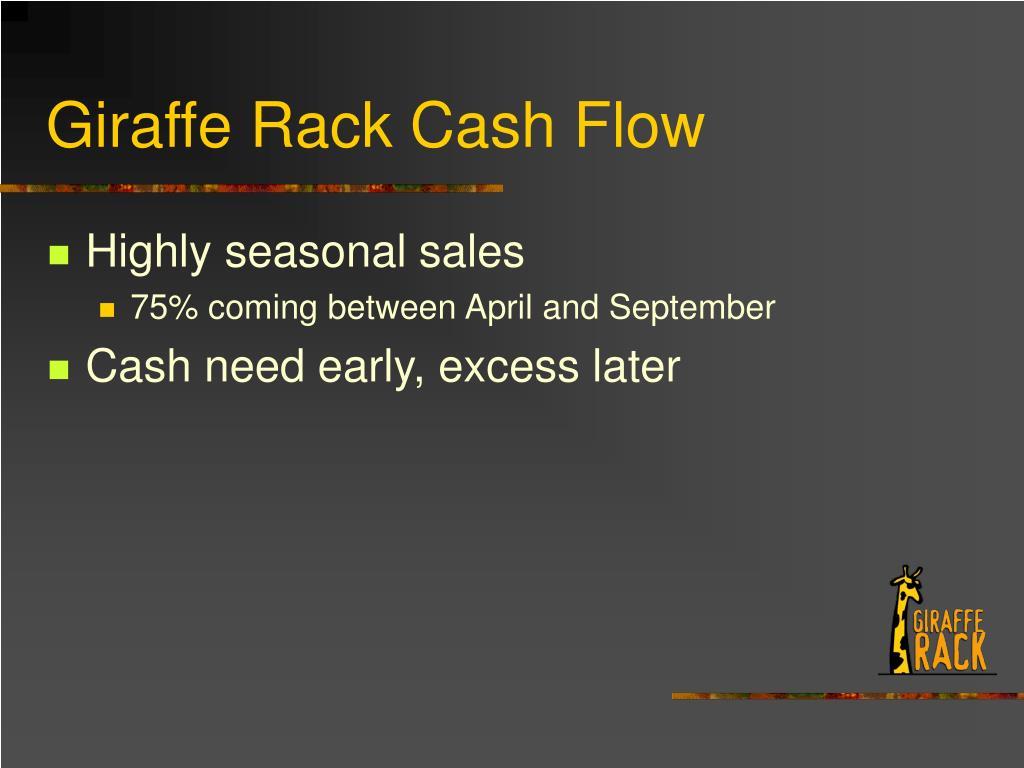 Giraffe Rack Cash Flow