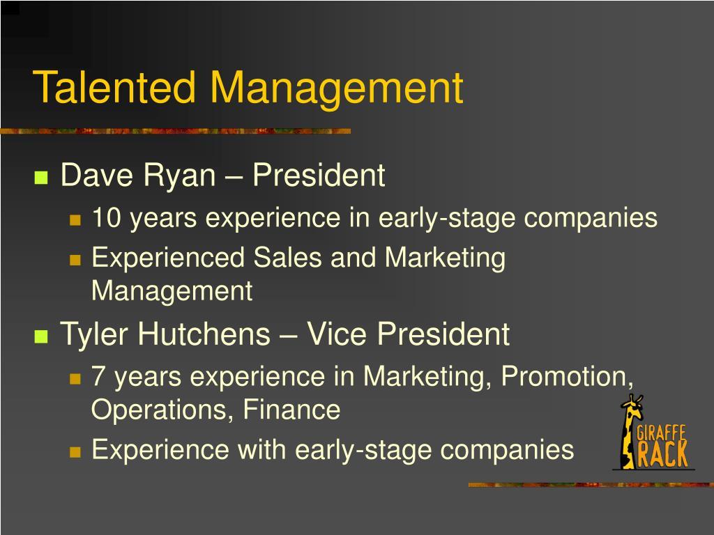 Talented Management