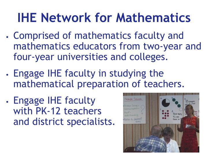 IHE Network for Mathematics
