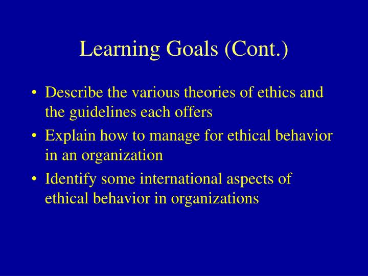 ethics and organization Bus 543 - ethics in organizations & society week 2 interaction paper chapter 1 is an introduction to business ethics the major message this chapter conveys is the various ethical.