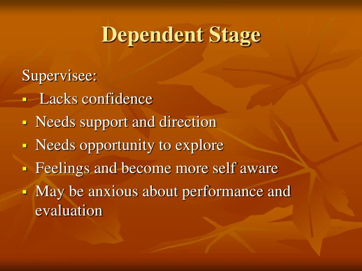 Dependent Stage
