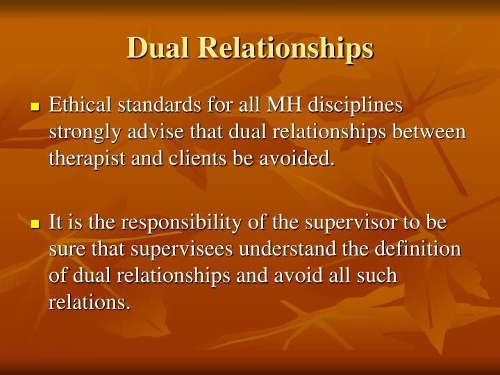 Dual Relationships
