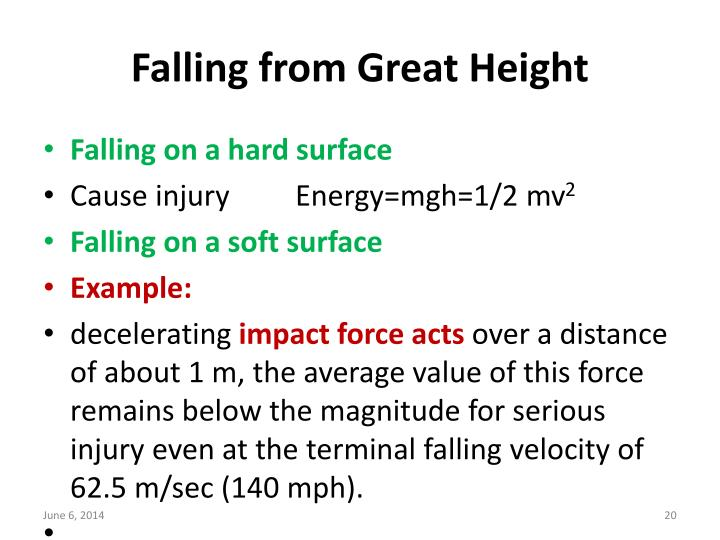 Falling from Great Height