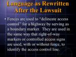 language as rewritten after the lawsuit