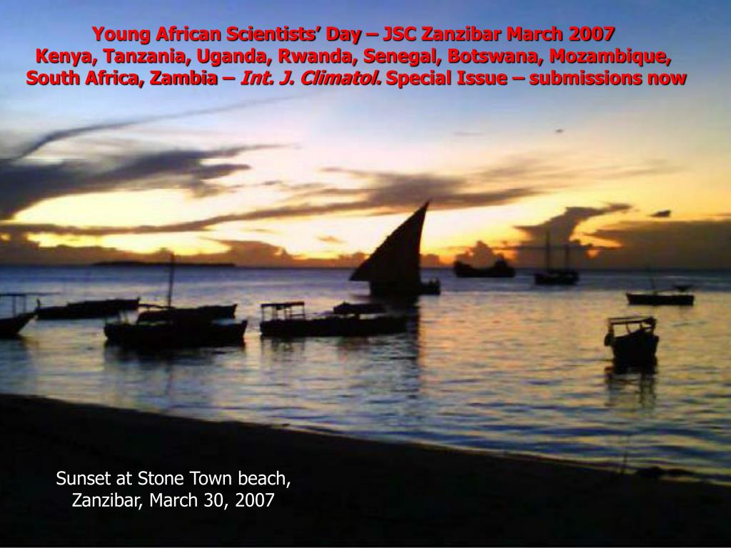 Young African Scientists' Day – JSC Zanzibar March 2007