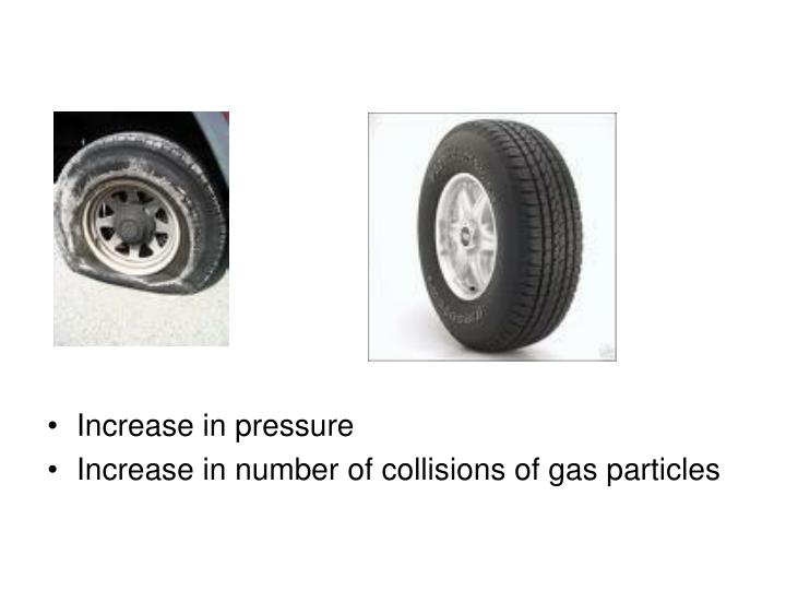 Increase in pressure