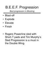 b e e f progression