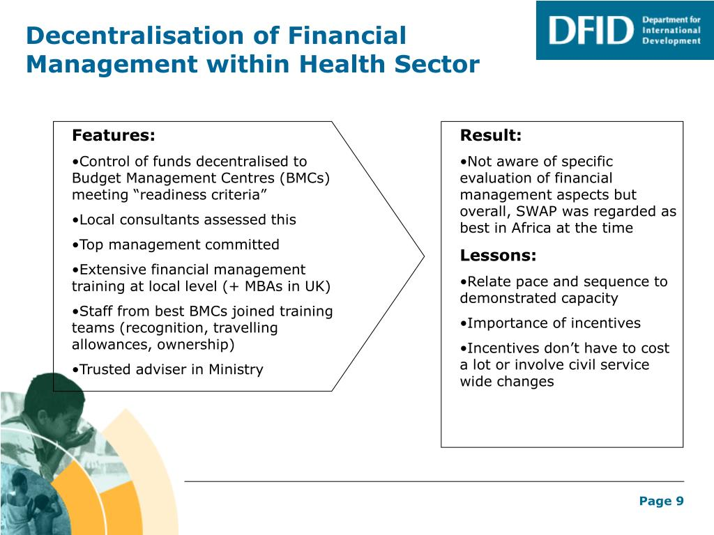 Decentralisation of Financial Management within Health Sector