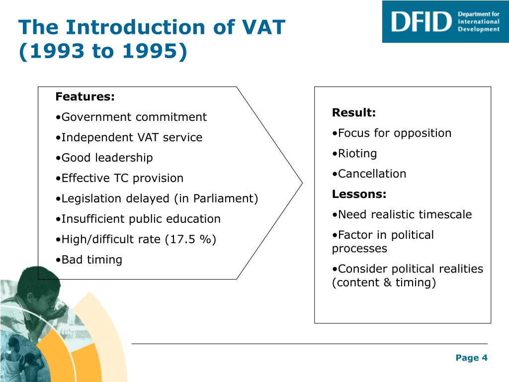 The Introduction of VAT