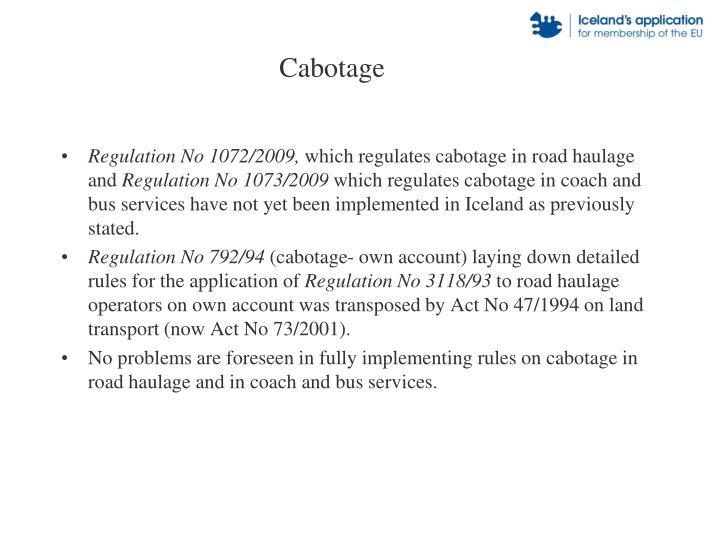 Cabotage
