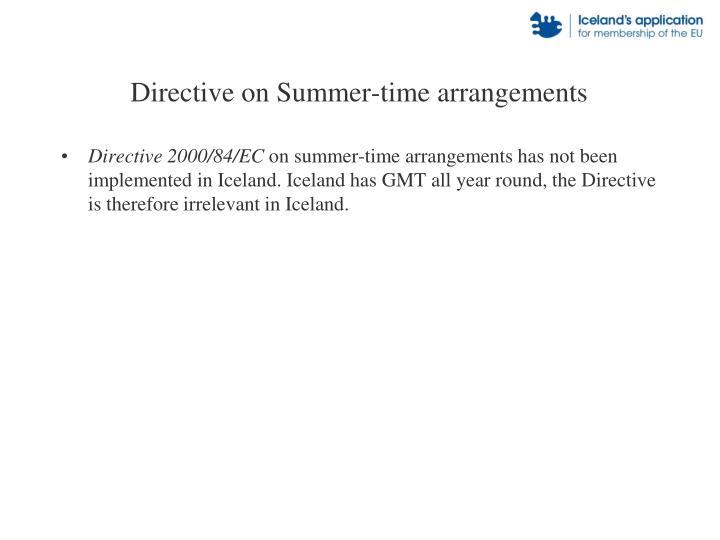 Directive on Summer-time arrangements