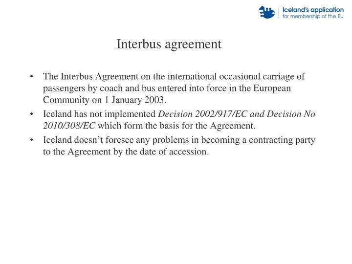 Interbus agreement