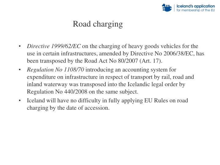 Road charging