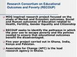 research consortium on educational outcomes and poverty recoup