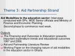 theme 3 aid partnership strand