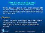 plan de acci n regional programa de tb ops 2004 2005