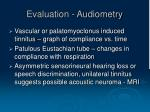 evaluation audiometry1