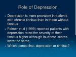 role of depression