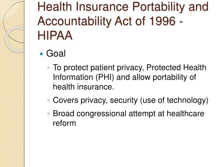 do you think the health insurance portability and accountability act hipaa has worked explain Physical therapists' guide to hipaa the health insurance portability and accountability act while you may think that hipaa violations are significantly more.